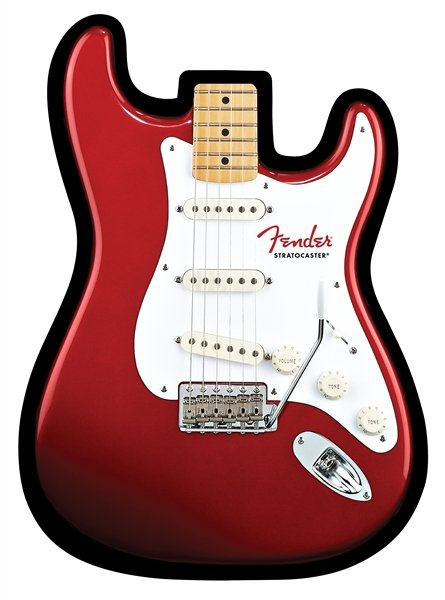 Red Strat-Shaped Mouse Pad