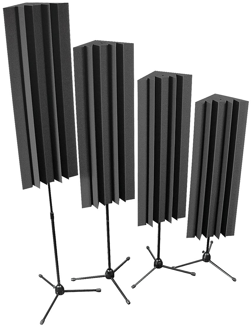 Auralex S-MLENCHA 4 Pack of 4 ft LENRD Stand-Mount Bass Traps in Charcoal Gray S-MLENCHA
