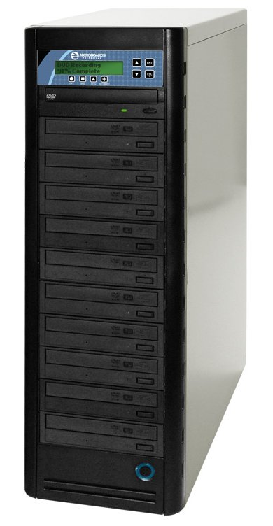 16x DVD/48x CD Duplicator with 10 Sony Optiarc Recorders & Built-in LCD Screen
