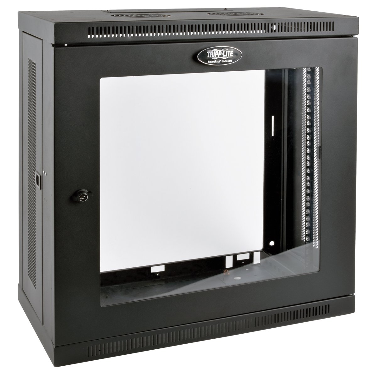 SmartRack 12RU Low-Profile Patch-Depth Wall-Mount Rack Enclosure Cabinet with Clear Acrylic Window