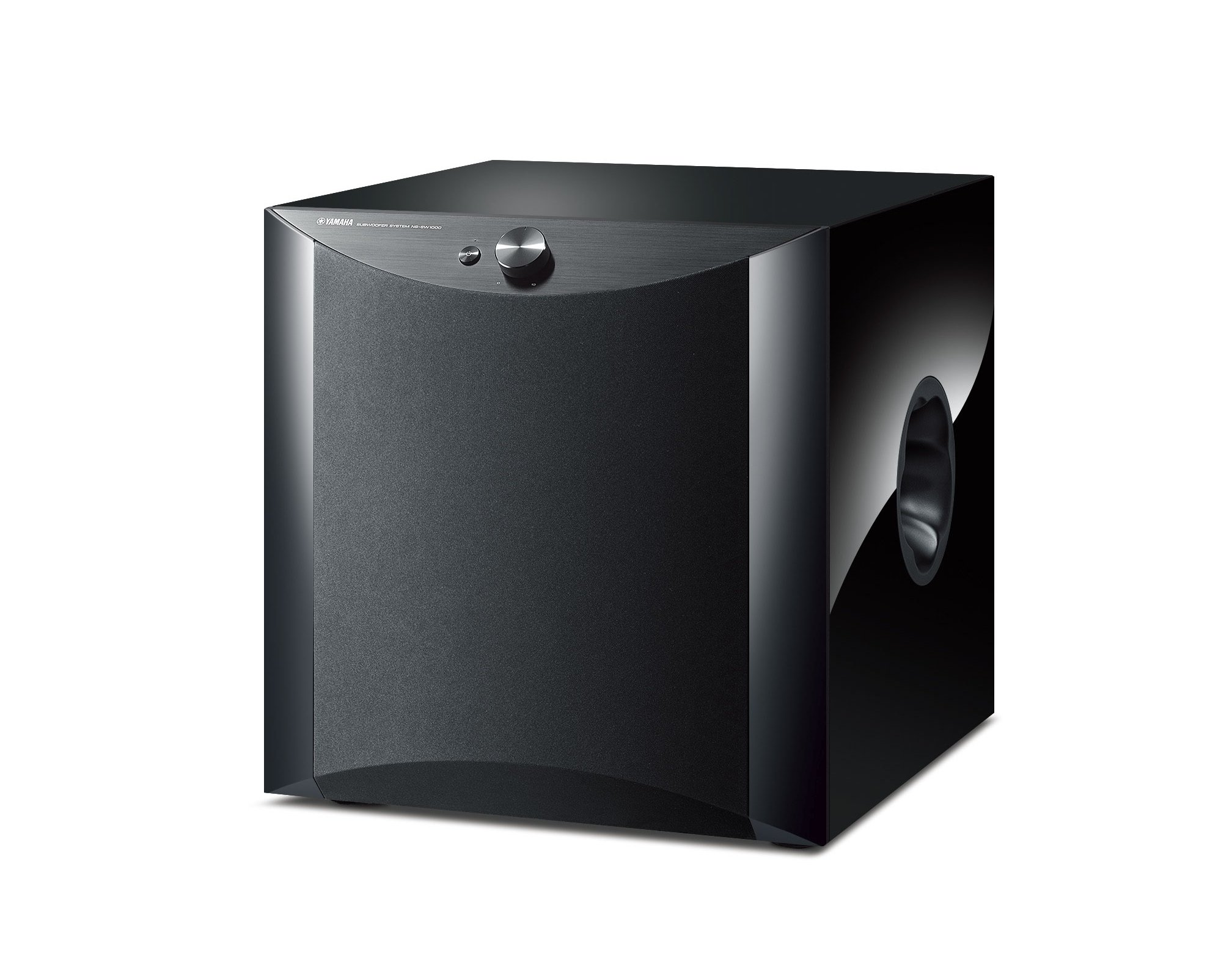 "1,000W Powered 12"" Subwoofer, Piano Black"