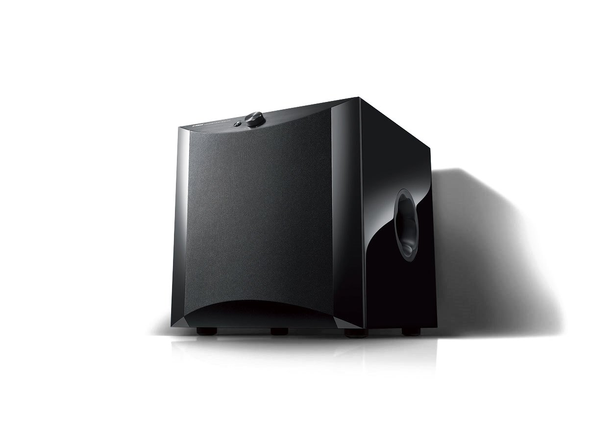 """1,000W Powered 12"""" Subwoofer, Piano Black"""