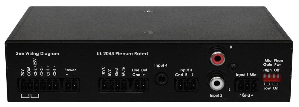 4 Channel Mixer Amplifier - 50W x 1