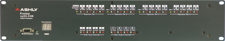 Ashly NE24.24M-4x16 Matrix Processor Networkable, 4 IN, 16 OUT NE24.24M-4x16