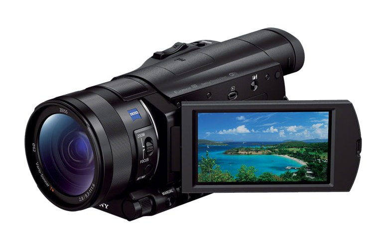 """HD Camcorder with 1"""" Exmor R CMOS Sensor and 12X Optical Zoom"""