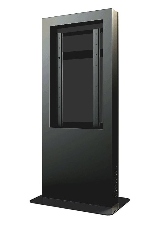 "Indoor Portrait Kiosk Enclosure for 55"" Display in Black"