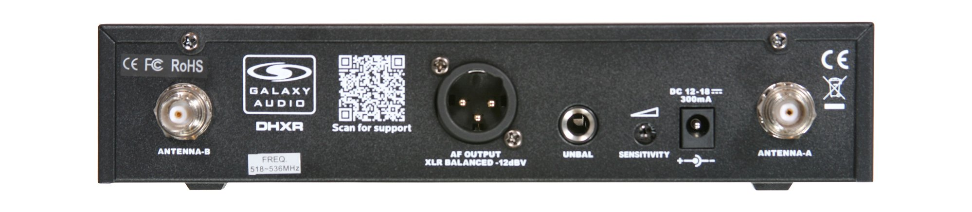 Galaxy Audio DHXR  DHX (UHF) Wireless Receiver DHXR