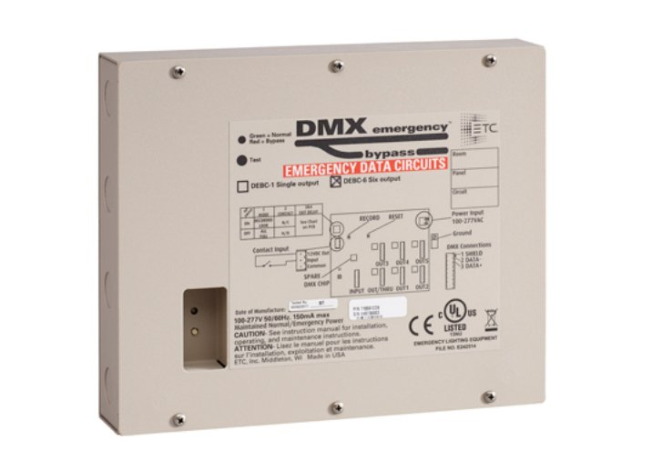 ETC/Elec Theatre Controls DEBC-6 6-Output DMX Emergency Bypass Controller DEBC-6