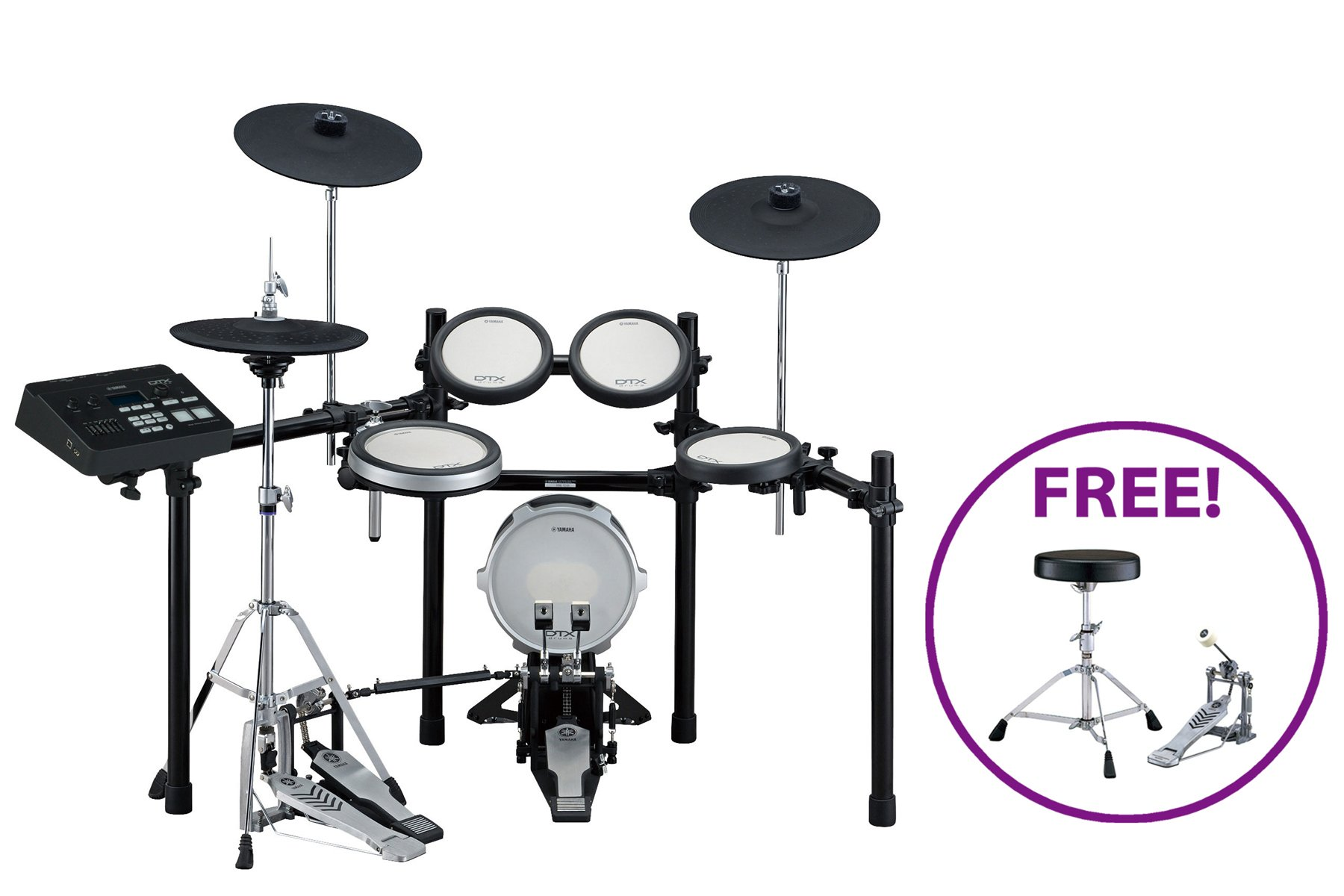 DTX720K Electronic Drum Kit with FREE Bass Drum Pedal & Throne