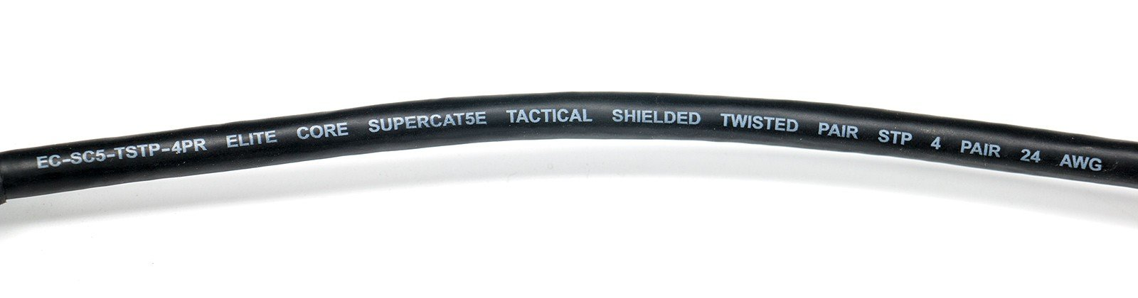 50 ft Ultra Durable Shielded Tactical CAT5E Cable with Booted RJ45 Connectors