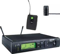 Wireless Bodypack System, WL185 Cardioid Lavalier Mic, ULX1 Bodypack Transmitter, 554-590 MHz