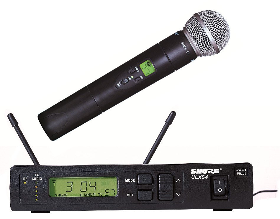 Wireless Handheld Microphone System with ULX2/58 Cardioid Dynamic Mic, 554-590 MHz