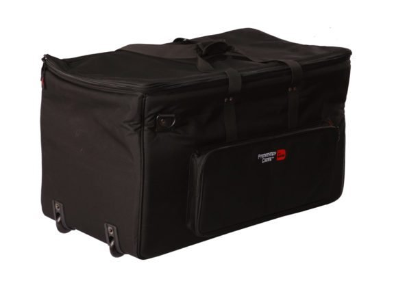 """28""""x16""""x16"""" Padded Electronic Drum Kit Bag with Wheels and Divider System"""