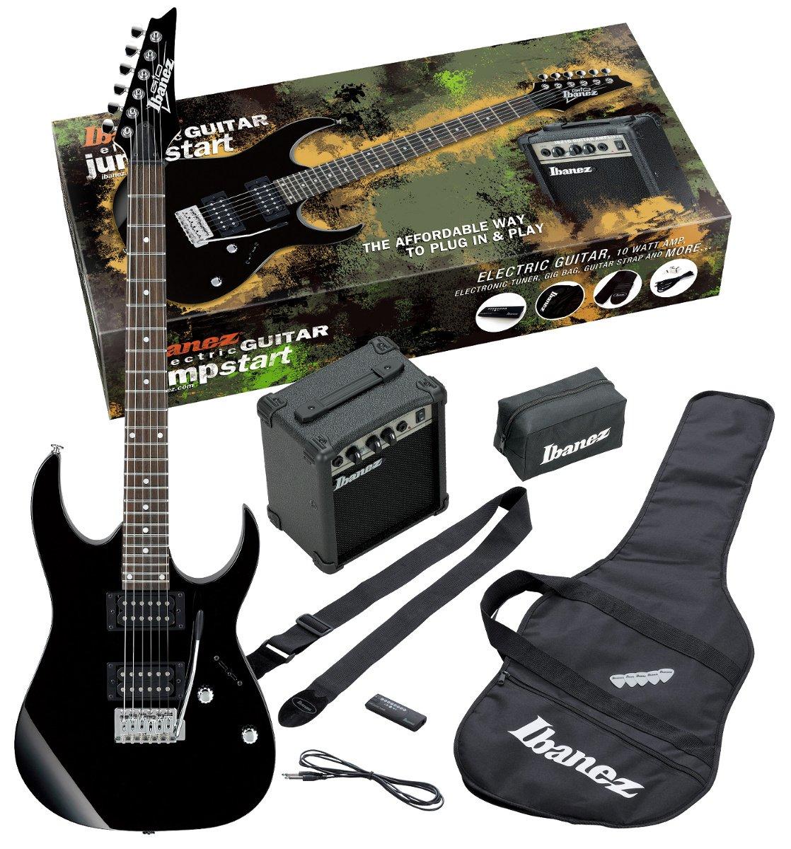 Jumpstart Pack with Black GRG Electric Guitar