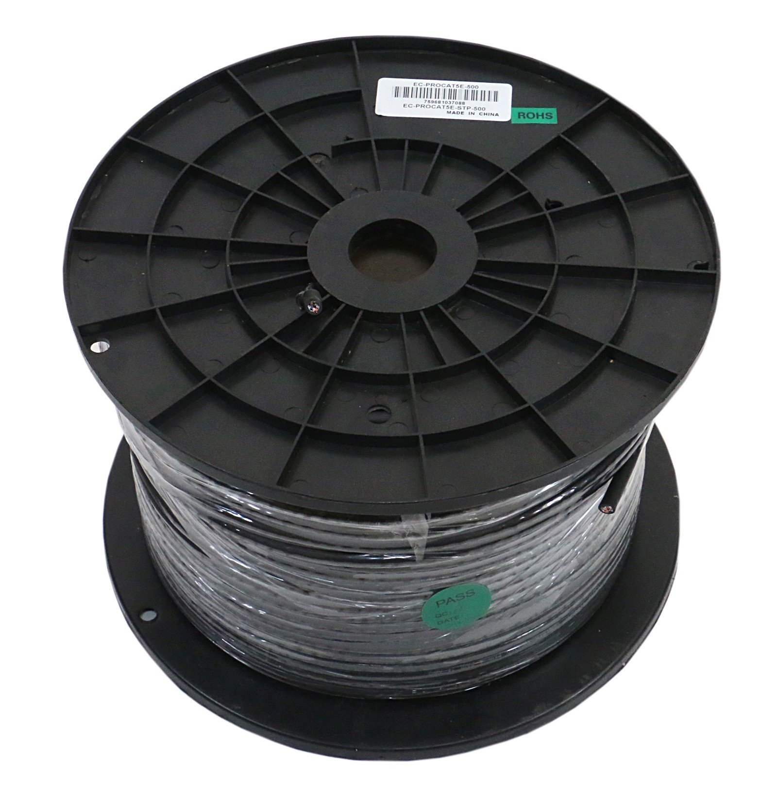 Tactical Shielded Soft CAT5E Bulk Cable, 500 ft Spool