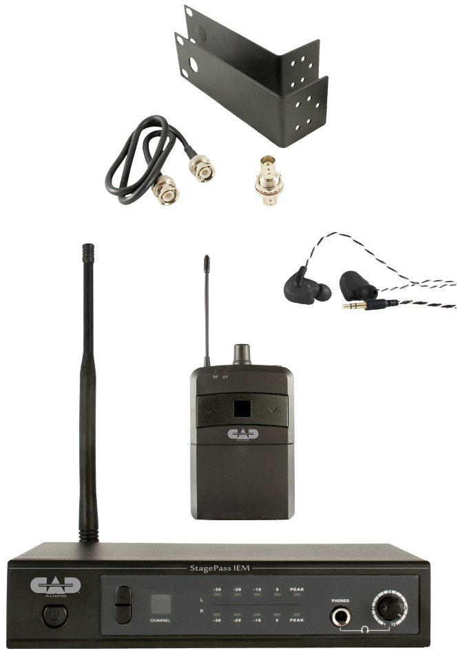 Stereo Wireless In-Ear Monitor System with Earbuds