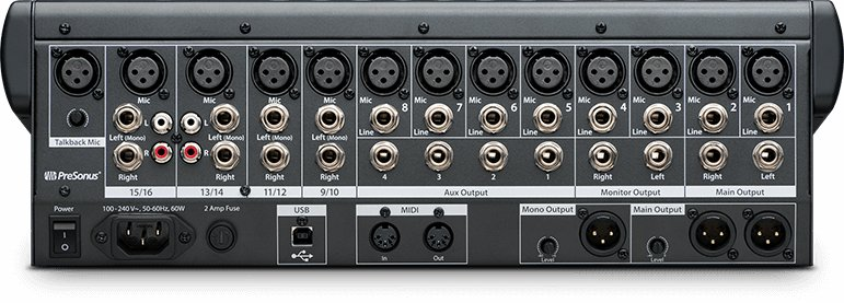 16-Channel Performance and Recording Digital Mixer with USB
