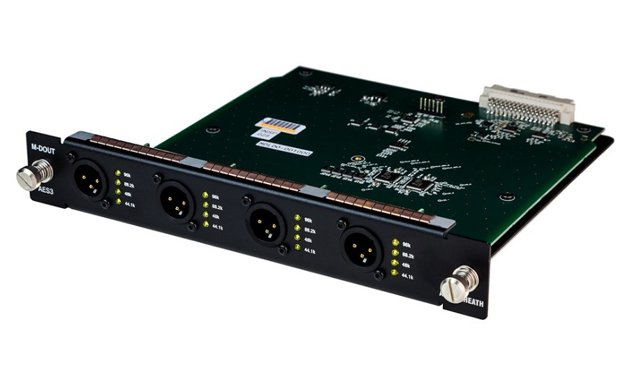 dLive 8-Channel AES/3 Digital Input Module for DX-32