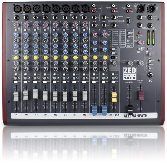 14 Channel Mixer with FX and 60mm Faders
