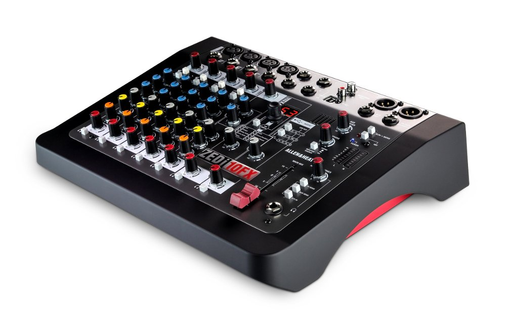 10 Channel Live Mixer, With 16 Preset Effects