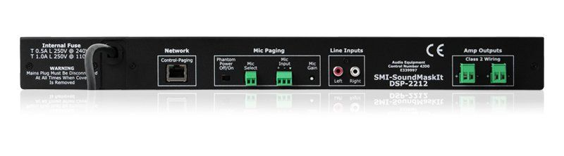 Digital, Network Sound Masking Processor and 2 Channel Amplifier