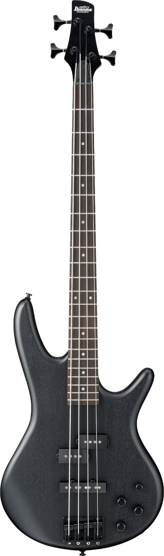 Weathered Black Gio Series Electric Bass