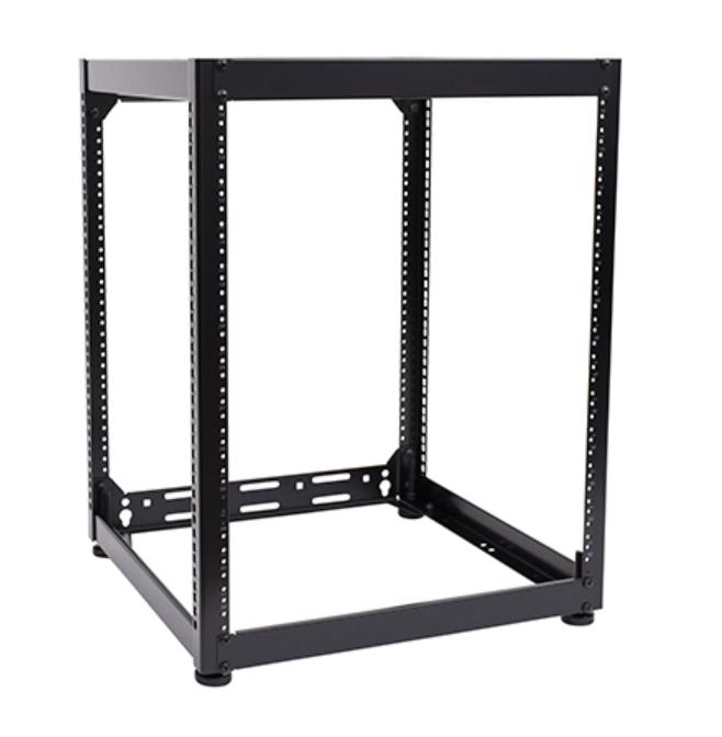 """15RU 20"""" Deep Stackable Skeleton Rack"""