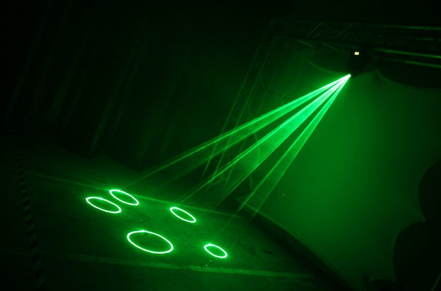 50mW Class 3R Fat Beam Green Laser in Moving Head
