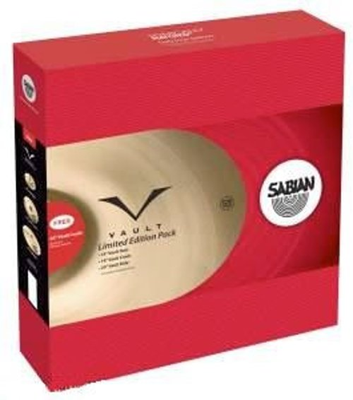 "Vault Promotional Cymbal Set with 14"" Hi-Hats, 18"" Crash, 20"" Ride and 20"" Crash in Natural Finish"