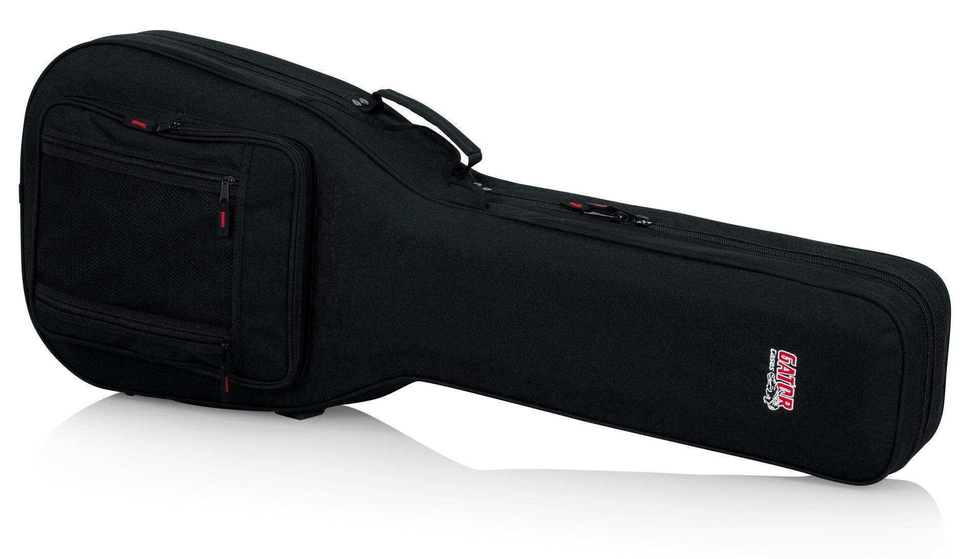 Lightweight Foam Double-Cutaway Guitar Case