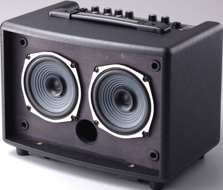 """2-Ch 30W 2x5"""" Battery-Powered Acoustic Guitar Amplifier"""