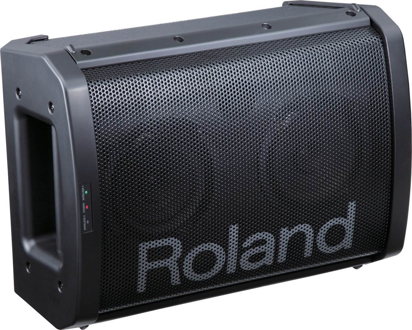 Black Portable Battery-Powered Amplifier with Wireless Microphone