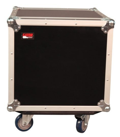 10RU ATA Style Rack Case with Locking Caster Board