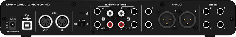 4x4 USB Audio/MIDI Interface