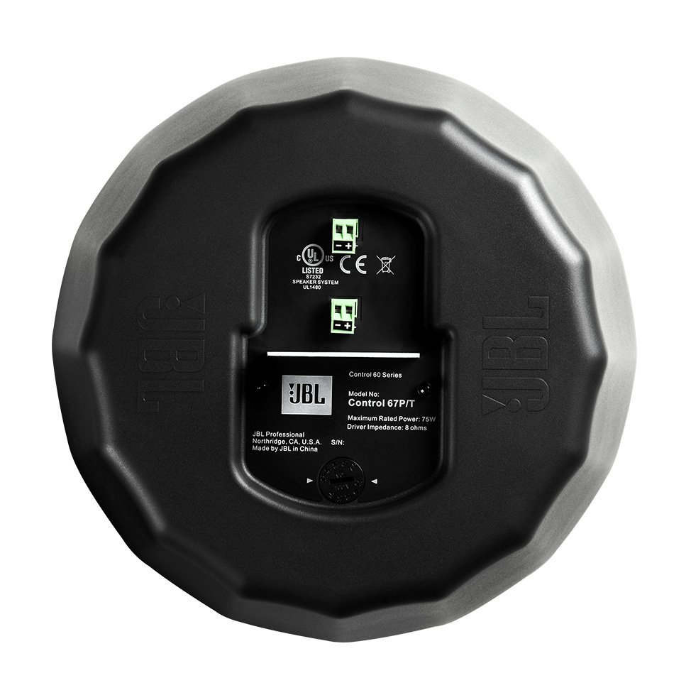 "6-1/2"" Pendant Speaker in Black with RBI Radiation Boundary Integration Technology"