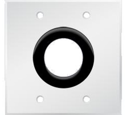 "Bulk Wire Wall Plate with 1-1/2"" Grommet Hole, Powdercoated White"