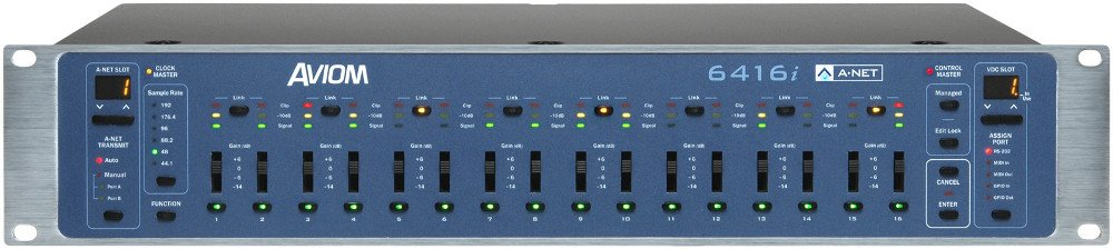 Pro64 Series 16-Channel Line Input Module with  XLR/DB25 Connectors