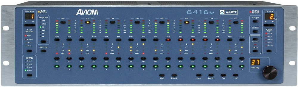 Pro64 Series 16-Channel Mic Input Module with XLR/DB25 Connectors