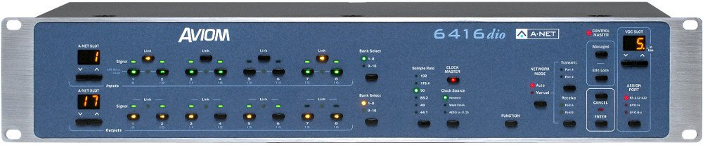Pro64 Series 16-Channel AES3 Digital I/O Module with BNC Connectors
