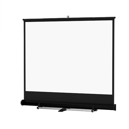 Floor Model C Portable Manual Projection Screen (12x12')