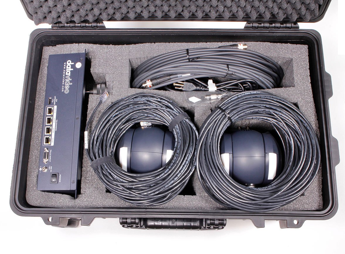 Two Remote Camera Kit with Controller, Cables, and Hand Case