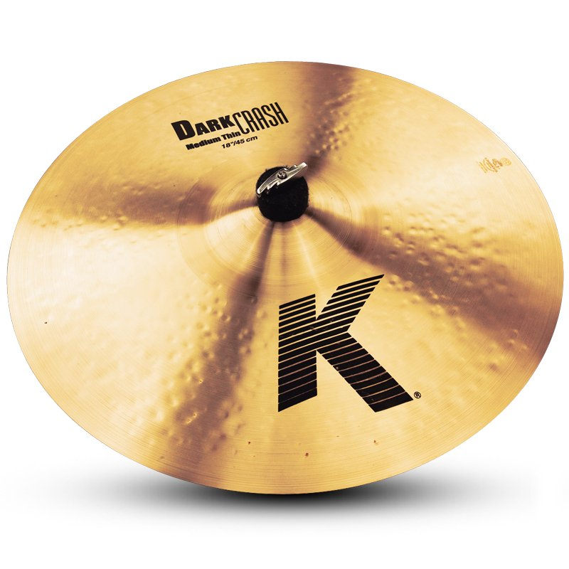 "18"" K Dark Medium Thin Crash Cymbal"