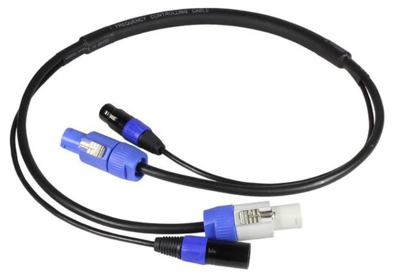 6 ft Combo Cable with Powercon to Powercon PLUS 3-pin DMX XLRM to XLRF