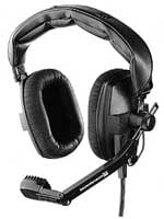 Headset/Mic, Dual Ear 200/400 ohm, No Cable, Black