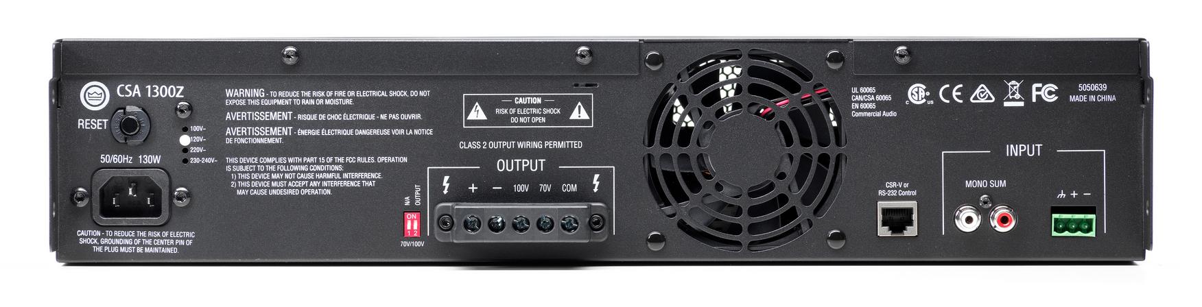 Commercial Amplifier, 300 Watt,70v, 2RU