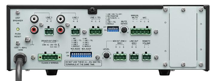 60W 5-Input Mixer/Amplifier