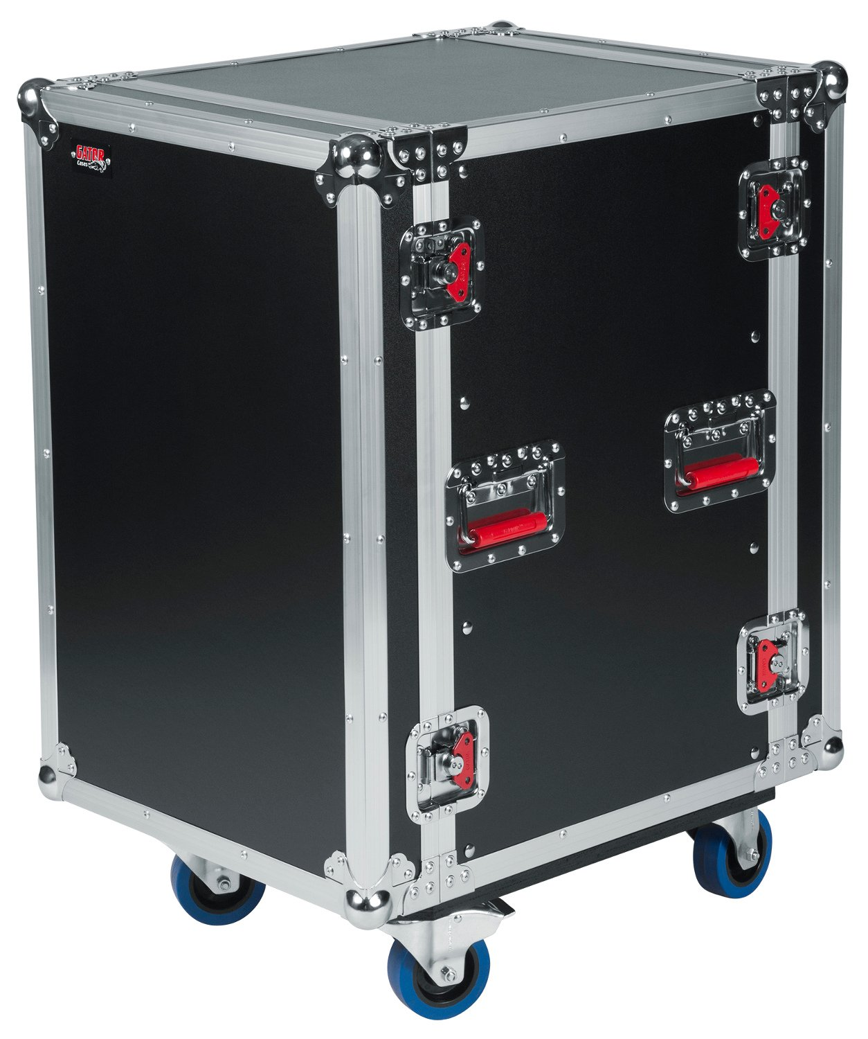 14RU ATA Style Rack Case with Locking Caster Board
