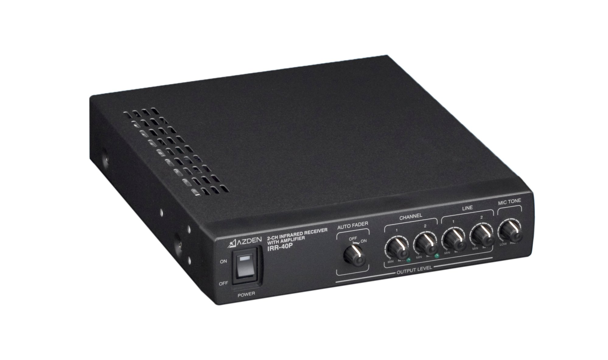2-Channel IR Wireless Audio Receiver with Built-in Power Amp