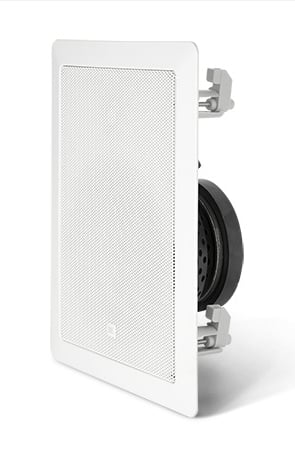 "6.5"" 2 Way In-Wall Loudspeaker with 70/100V Transformer in White"