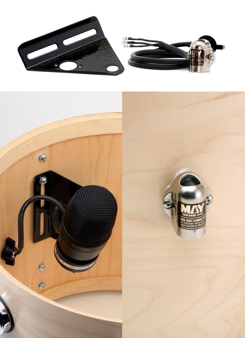 Audio Vent Connector for May Drum Miking System